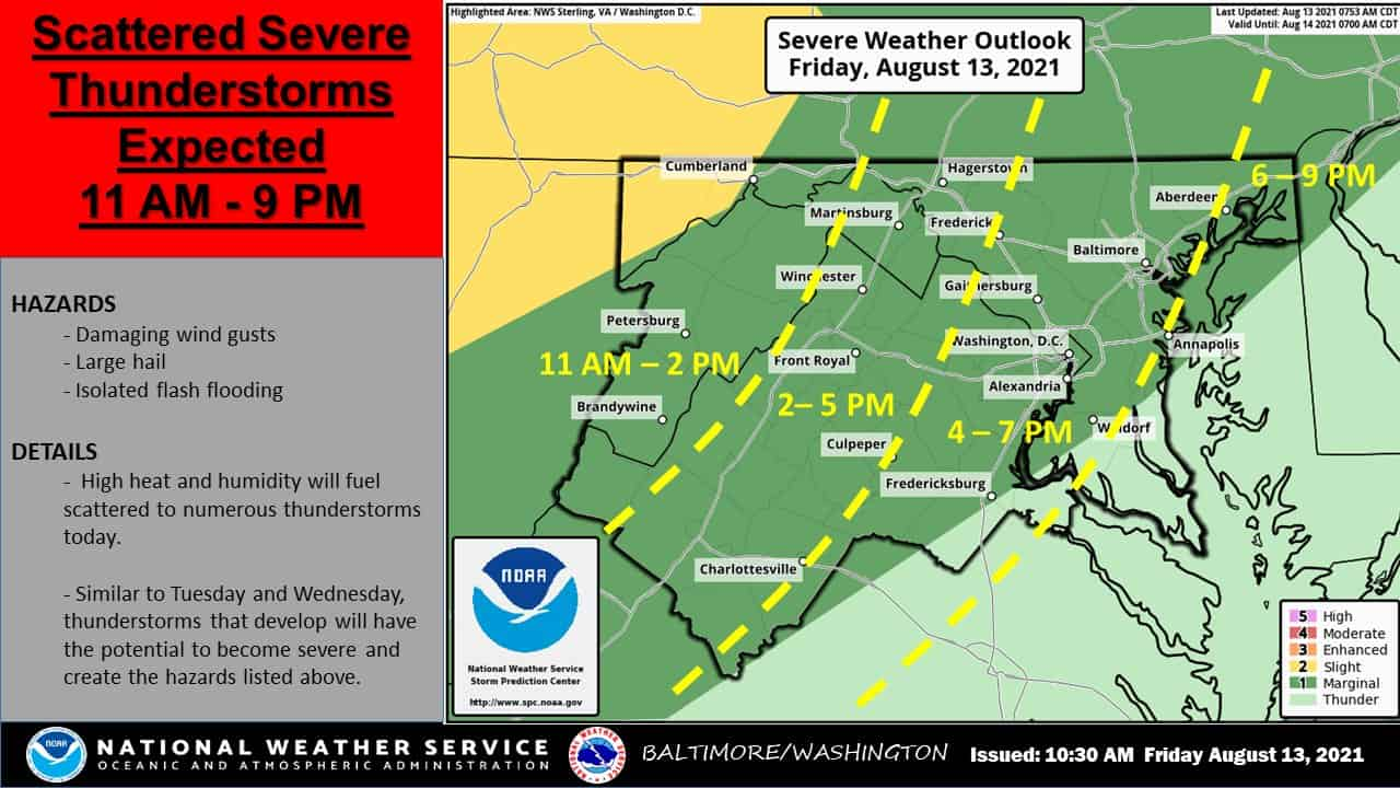 Area Could See Winds & Storms Today