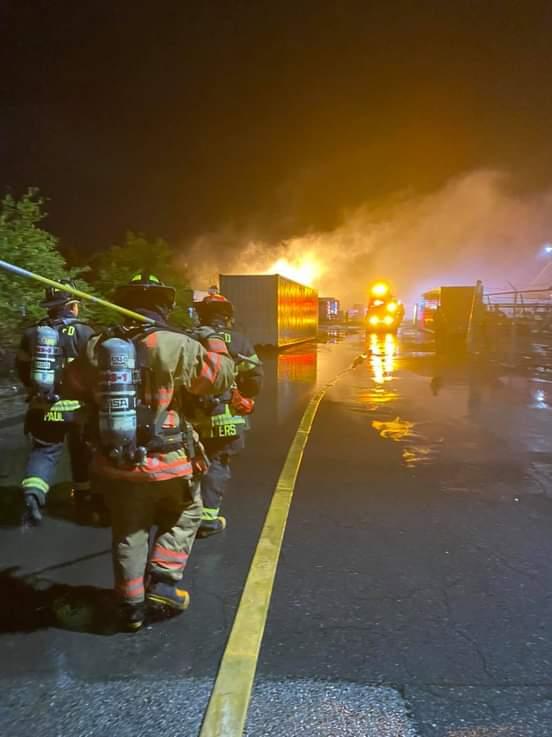 HAZMAT Fire Causing Light Show in Dundalk